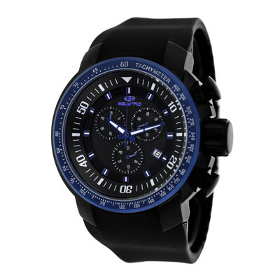 Seapro Mens Blue Imperial Strap Watch
