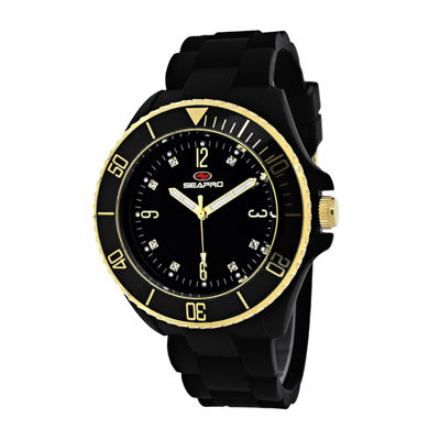 Seapro Sea Bubble Ladies Black Strap Watch