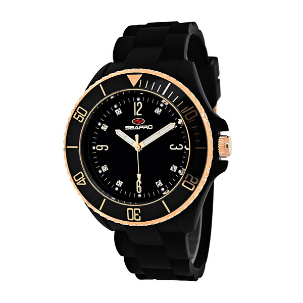 Seapro Sea Bubble Ladies Black Strap Bracelet Watch