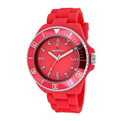 Seapro Sea Bubble Womens Pink Silicone Strap Watch