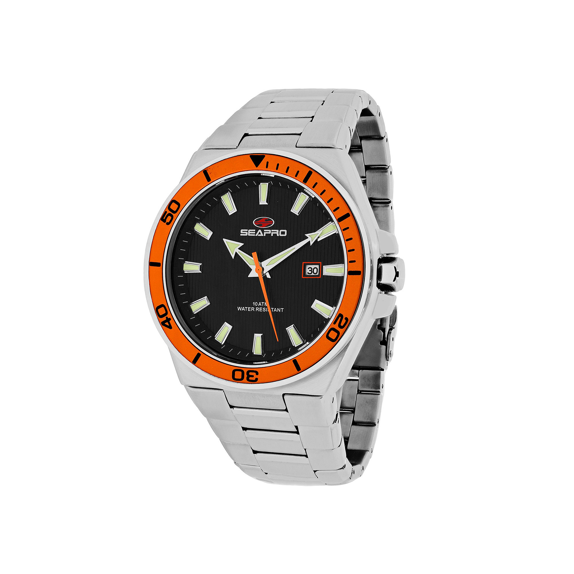 Seapro Storm Mens Silver-Tone Stainless Steel Watch