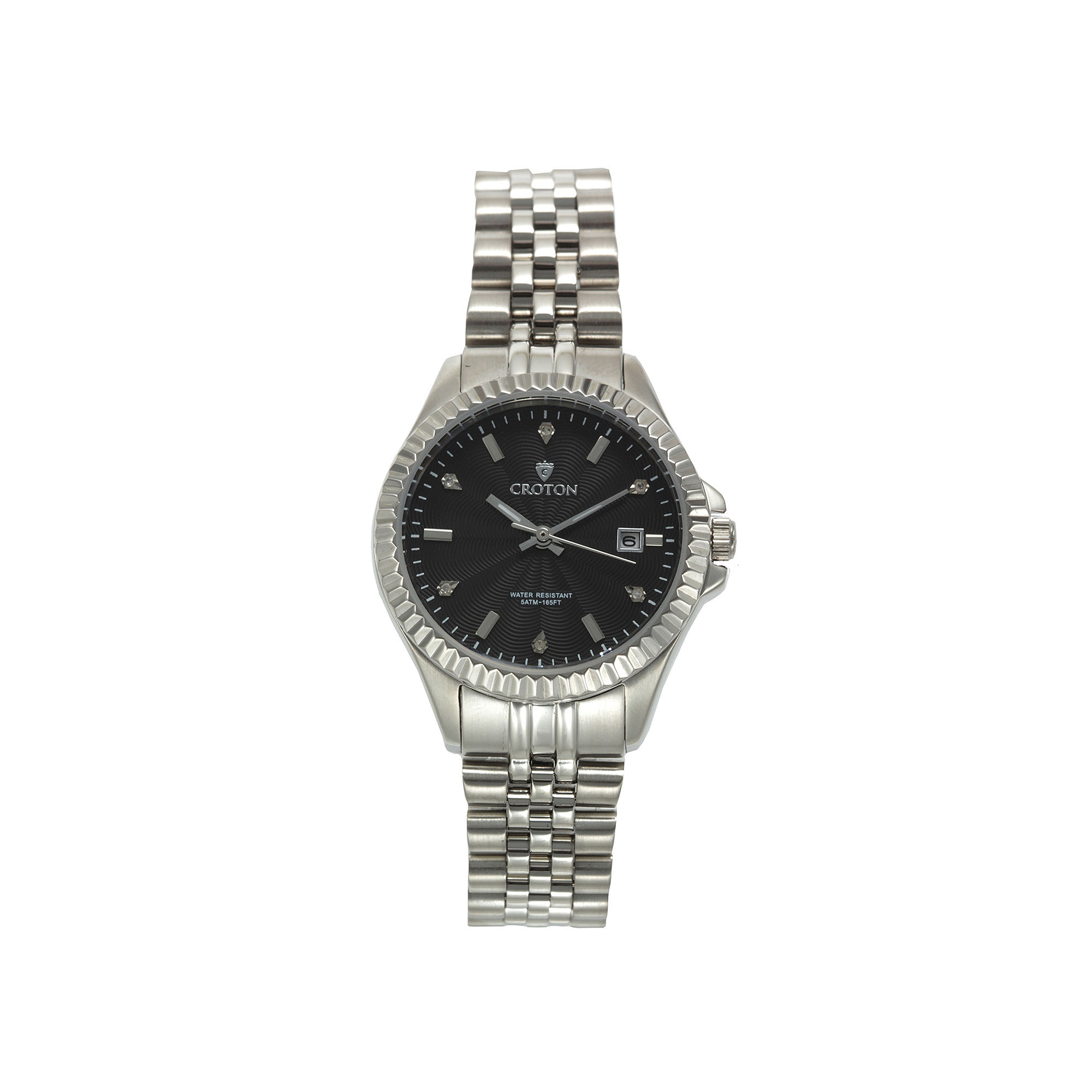 Croton Womens Diamond Accent Stainless Steel Bracelet Watch
