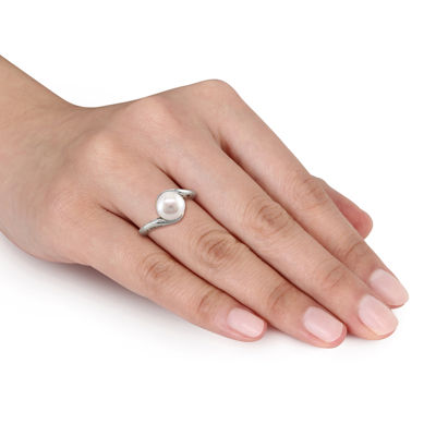 Cultured Freshwater Pearl 10K White Gold Ring