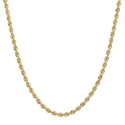 "14K Gold Glitter Rope 18-30"" 1.75mm Chain"