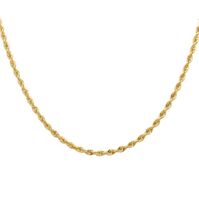 Infinite Gold™ 14K Yellow Gold Glitter Solid Rope Chain