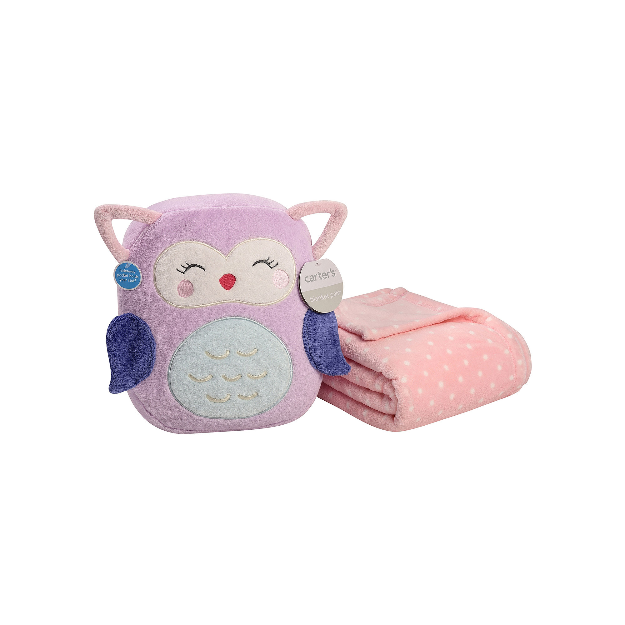 Carter's On-the-Go Owl Plush Bag with Blanket