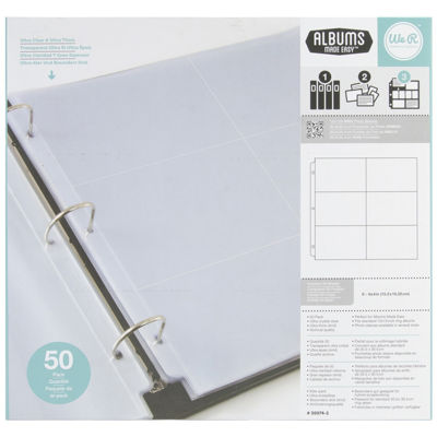 "We R Memory Keepers® 3-Ring 4x6"" Photo Sleeves"
