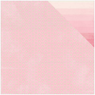 """Authentique Paper Blushing Mini Heart 2-Sided 12x12"""" Cardstock - 18 Sheets"""