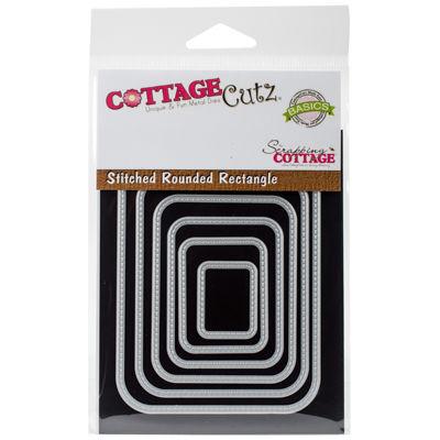 CottageCutz 6-pc. Stitched Round Rectangle Dies