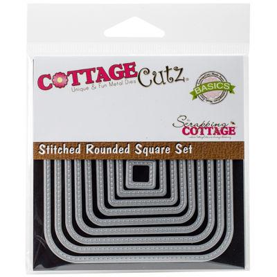 CottageCutz 9-pc. Stitched Round Square Dies