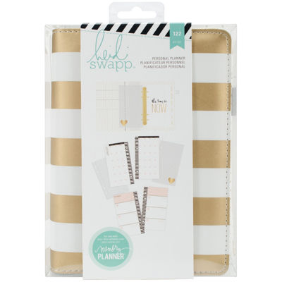 Heidi Swapp™ Monthly Gold Foil Stripes Memory Planner Kit