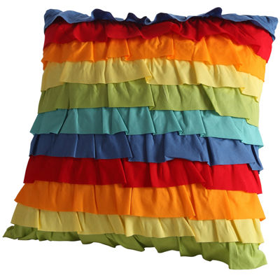 Fiesta Ruffle Decorative Pillow