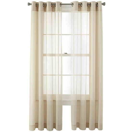Home Expressions Kramer Sheer Grommet-Top Single Curtain Panel