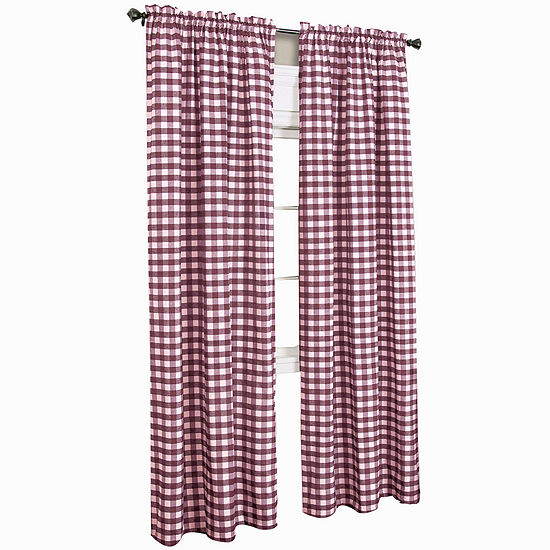Buffalo Check Light-Filtering Rod-Pocket Single Curtain Panel