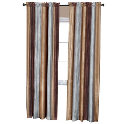 Ombre Light-Filtering Rod-Pocket Single Curtain Panel