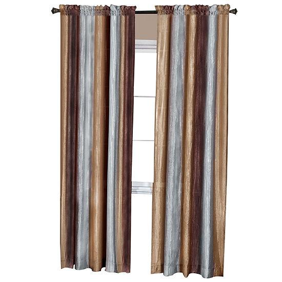 Ombre Light-Filtering Rod-Pocket Single Curtain Panel