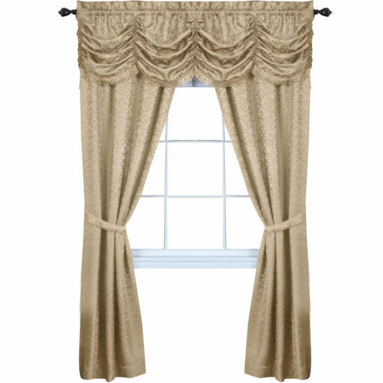 Panache 5-pc. Rod-Pocket Curtain Set