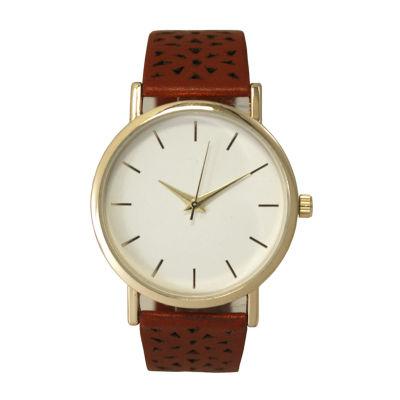 Olivia Pratt Laser Cut Womens Red Strap Watch-16258