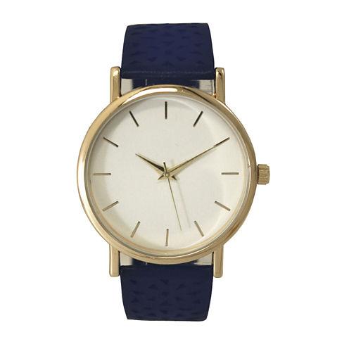 Olivia Pratt Laser Cut Womens Blue Strap Watch-16258