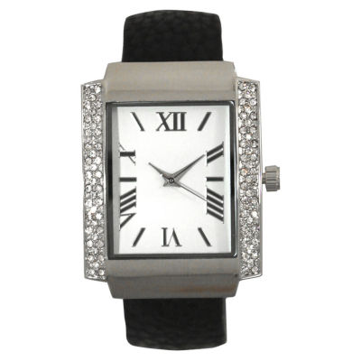 Olivia Pratt Womens Black Bangle Watch-15773