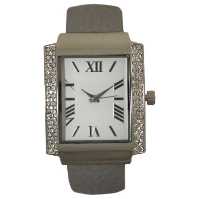 Olivia Pratt Womens Gray Bangle Watch-15773