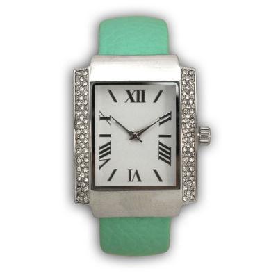Olivia Pratt Womens Green Bangle Watch-15773