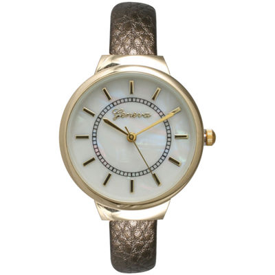 Olivia Pratt Metallic Womens Gold Tone Bangle Watch-13990