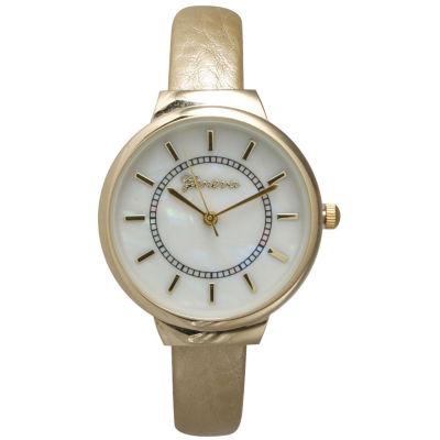 Olivia Pratt Metallic Womens Gold Tone Bangle Watch-13990