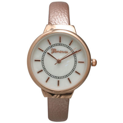 Olivia Pratt Metallic Womens Rose Goldtone Bangle Watch-13990