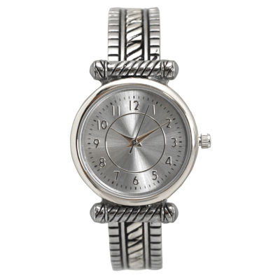 Olivia Pratt Womens Silver Tone Bangle Watch-15785