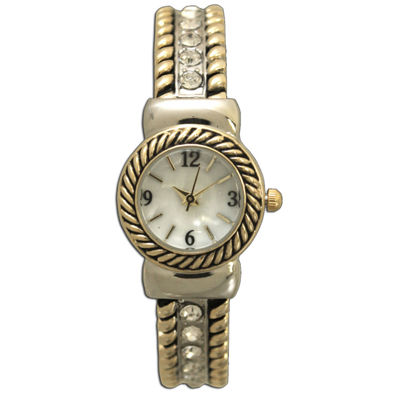 Olivia Pratt Womens Two Tone Bangle Watch-10034