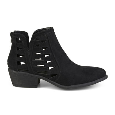 Journee Collection Womens Finley Booties Block Heel Zip