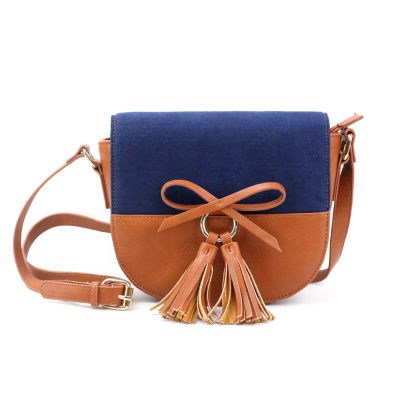 Olivia Miller Maliha Two Tone Saddle Crossbody Bag