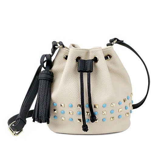 Olivia Miller Braelyn Studded Bucket Crossbody Bag