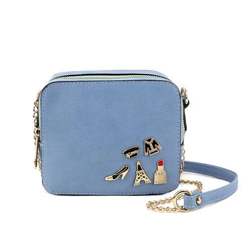 Olivia Miller Brexley Multi Pins Camera Crossbody Bag
