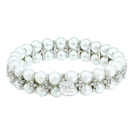 Monet Jewelry The Bridal Collection Simulated Pearl Stretch Bracelet
