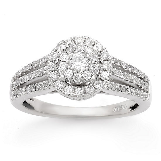LIMITED QUANTITIES! Womens 3/4 CT. T.W. Genuine White Diamond 14K Gold Engagement Ring