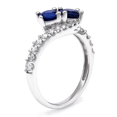 Womens 3/8 CT. T.W. Genuine Blue Sapphire 14K Gold Cocktail Ring