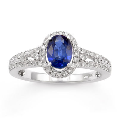 Womens 1/3 CT. T.W. Genuine Blue Sapphire 14K Gold Cocktail Ring