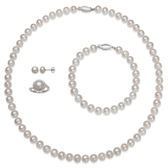 4-pc. Cultured Freshwater Pearl Sterling Silver Jewelry Set