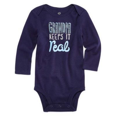 Okie Dokie Slogan Long Sleeve Bodysuit - Baby NB-24M