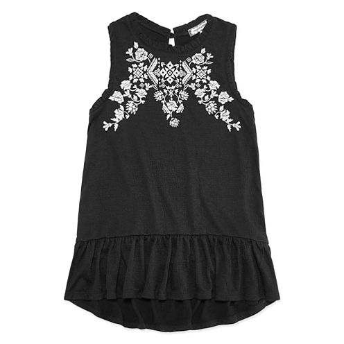 AZ Embroidered Tank - Girls' 7-16 and Plus