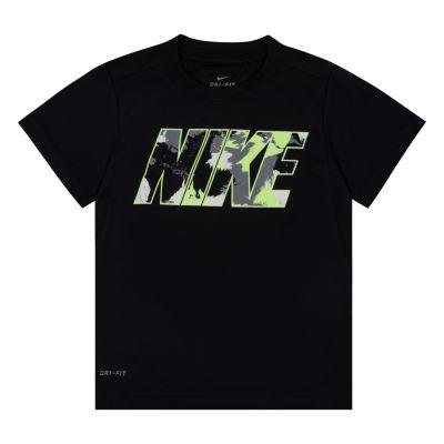 Nike Boys Crew Neck Short Sleeve Moisture Wicking Graphic T-Shirt-Preschool