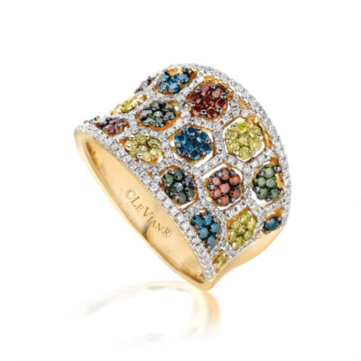 LIMITED QUANTITIES Grand Sample Sale™ by Le Vian® 7/8 CT. T.W. Vanilla Diamonds® & Chocolate Diamonds® 14K Strawberry Gold® Chocolatier® Ring