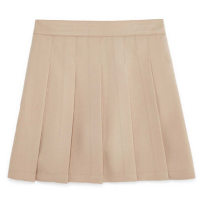 Izod Exclusive Girls Comfort Waistband Pleated Short Scooter Skirt