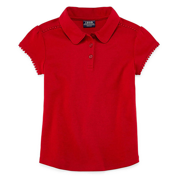 Izod exclusive short sleeve polo shirt preschool girls for Jcpenney ladies polo shirts