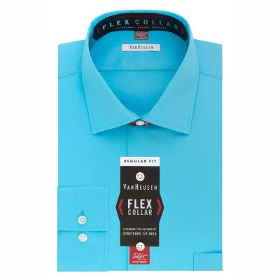 Van Heusen Flex Collar Long Sleeve Twill Dress Shirt