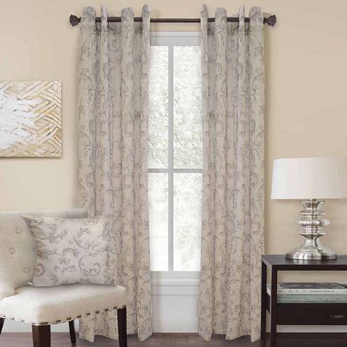 Homewear Nisha Grommet-Top Curtain Panel
