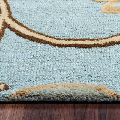 Rizzy Home Dimensions Floral Rectangular Indoor Area Rug