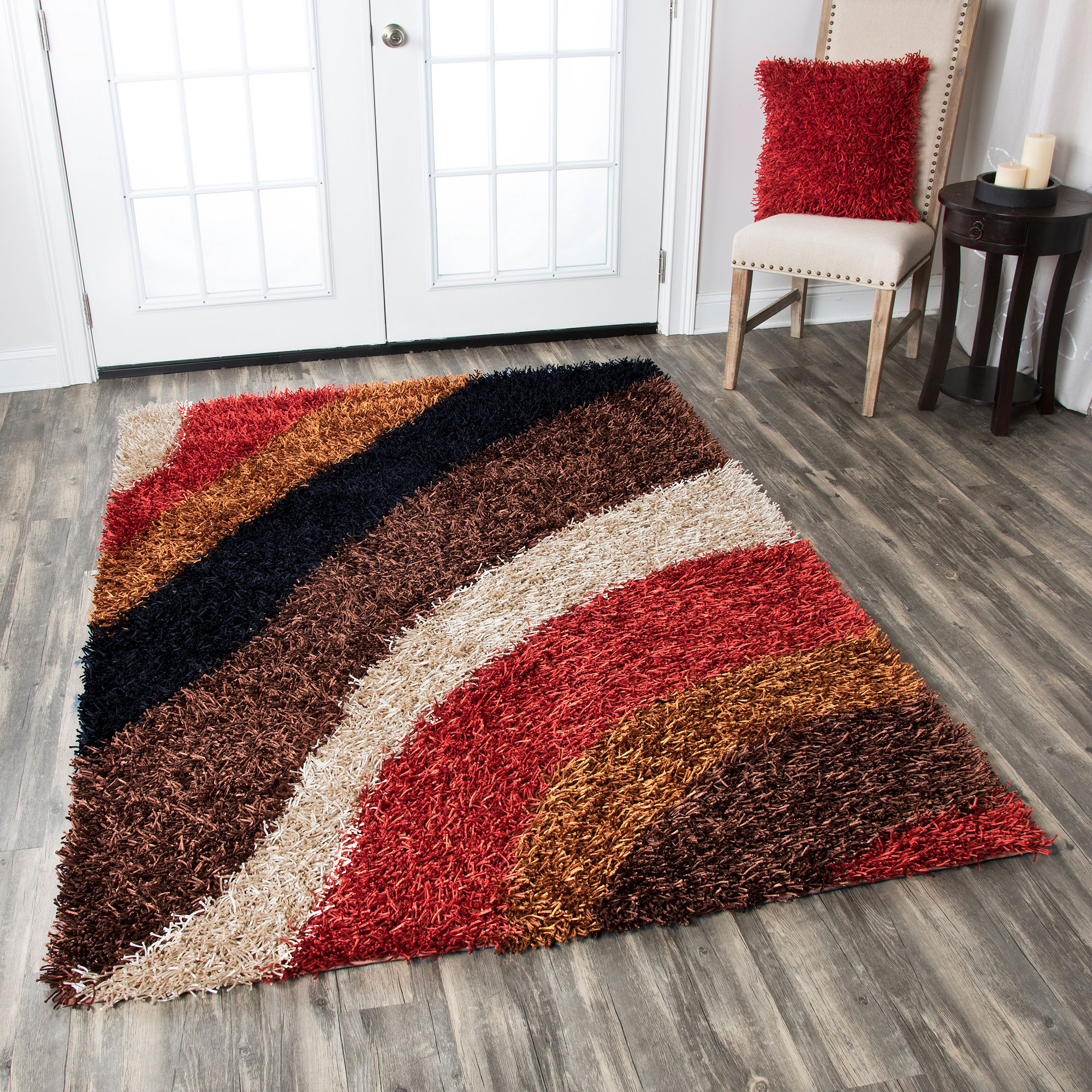 Rizzy Home Kempton Stripe Round Rugs